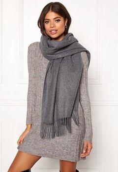 ONLY Nala Weaved Wool Scarf Medium Grey Melange Bubbleroom.eu