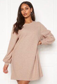 ONLY Nanna L/S Rib Dress Pumice Stone Bubbleroom.eu