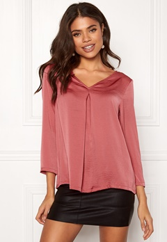 ONLY Natalia Sateen V Neck Top Baroque Rose Bubbleroom.eu