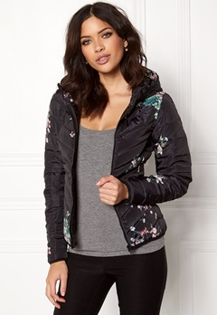 ONLY New Ash Quilted Jacket Black Bubbleroom.eu