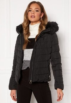 ONLY New Ellan Quilted Jacket Black Bubbleroom.eu