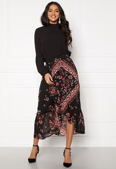 ONLY Nina Midi Skirt Black Bubbleroom.eu