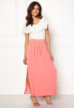 ONLY Nova Lux Maxi Skirt Solid Strawberry Ice Bubbleroom.eu