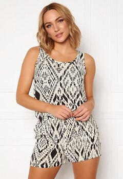 ONLY Nova Lux S/L Playsuit AOP Cloud Dancer Bubbleroom.eu