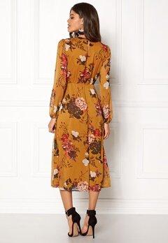 ONLY Oda L/S Maxi Dress Peat Bubbleroom.eu