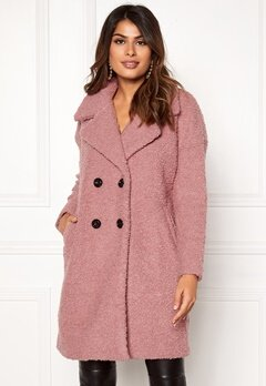 ONLY Paloma Boucle Wool Coat Baroque Rose Bubbleroom.eu