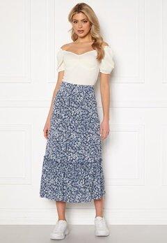 ONLY Pella Skirt Jrs Vintage Indigo/Flora Bubbleroom.eu