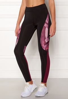 ONLY PLAY Dayo AOP Run Tights Black/Rhododendron Bubbleroom.eu