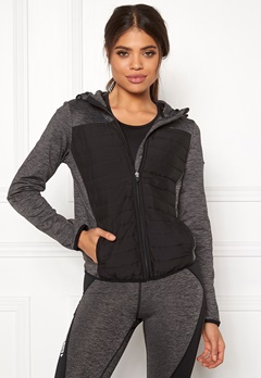 ONLY PLAY Vera Quilted Hood Jacket Dark Grey Melange Bubbleroom.eu