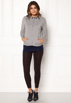 ONLY PLAY Zira Glitter Zip Sweat Medium Grey Silve Bubbleroom.eu