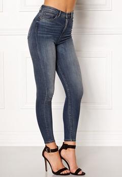 ONLY Posh HW Cropped Jeans Dark Blue Denim Bubbleroom.eu