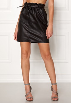 ONLY Rigie PU Paper Bag Skirt Black Bubbleroom.eu