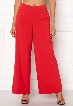ONLY Roma Wide Leg Pants High Risk Red Bubbleroom.eu