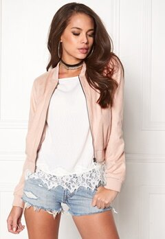 ONLY Saloon Faux Suede Cameo Rose Bubbleroom.eu