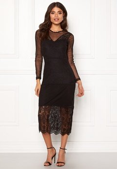 ONLY Sam L/S Lace Dress Black Bubbleroom.eu