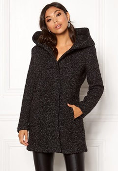 ONLY Sedona Boucle Wool Coat Black Bubbleroom.eu
