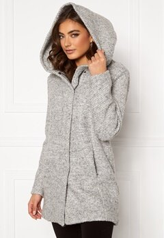 ONLY Sedona Boucle Wool Coat Light Grey Melange Bubbleroom.eu