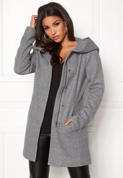 ONLY Sedona Light Coat Light Grey Melange Bubbleroom.eu