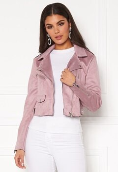 ONLY Sherry Crop Bonded Biker Keepsake Lilac Bubbleroom.eu