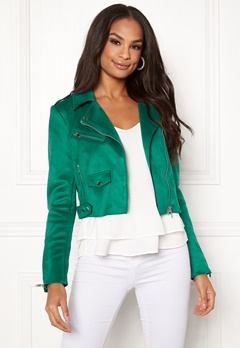 ONLY Sherry Cropped Biker Cadmium Green Bubbleroom.eu