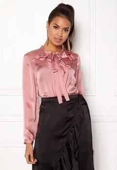 ONLY Sila L/S Ruffle Shirt Blush Bubbleroom.eu