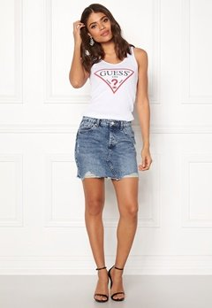 ONLY Sky Reg Denim Skirt Light Blue Denim Bubbleroom.eu