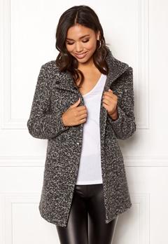 ONLY Sophia Boucle Wool Coat Dark Grey Melange Bubbleroom.eu