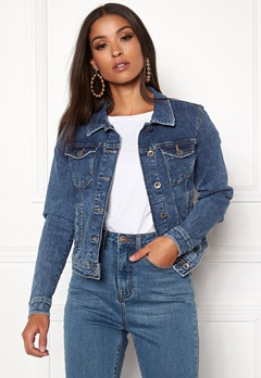 ONLY Tia Denim Jacket Medium Blue Denim Bubbleroom.eu
