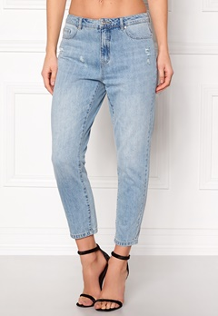 ONLY Tonni BF Destroy Jeans Medium Blue Denim Bubbleroom.eu