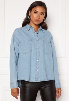ONLY Unit Life Oversize Shirt Light Blue Denim Bubbleroom.eu