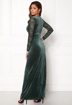 ONLY Valerie L/S Maxi Dress Rain Forest Bubbleroom.eu