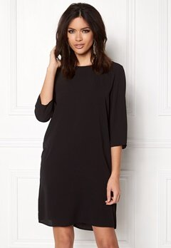 ONLY Vic 3/4 Solid Dress Black Bubbleroom.eu