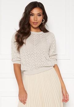 ONLY Vilde Pullover Knit Pumice Stone Bubbleroom.eu