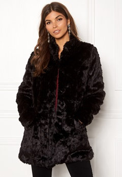 ONLY Viva Fur Coat Black Bubbleroom.eu