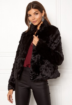ONLY Viva Fur Jacket Black Bubbleroom.eu