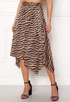 ONLY Zebra Skirt Tan Bubbleroom.eu