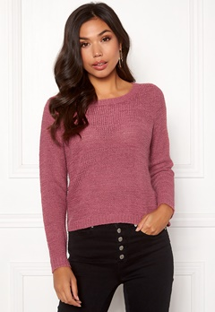 ONLY Geena L/S Pullover Rose Wine Bubbleroom.eu