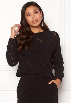 ONLY Yasmin L/S Pullover Black Bubbleroom.eu