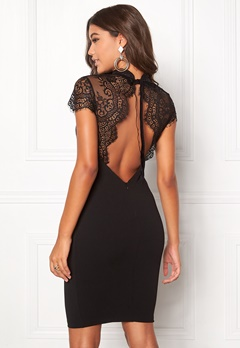 Goddiva Open Back Midi Lace Black Bubbleroom.eu