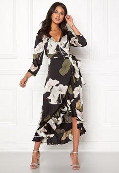 OBJECT Pantheon 3/4 Maxi Dress Black/Big Floral Bubbleroom.eu
