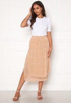 Pieces Anabelle HW Midi Skirt Apricot AOP Flower Bubbleroom.eu