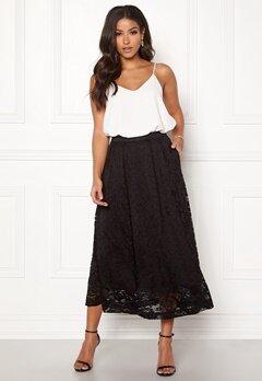 Pieces Beda Ankle Lace Skirt Black Bubbleroom.eu