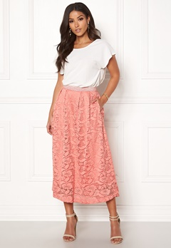Pieces Beda Ankle Lace Skirt Rose Dawn Bubbleroom.eu