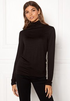 Pieces Billo LS Rollneck Top Black Bubbleroom.eu