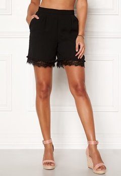 Pieces Brook MW Shorts Black Bubbleroom.eu