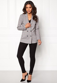 Pieces Carla LS Blazer Light Grey Melange Bubbleroom.eu