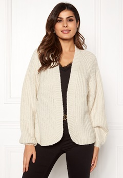 Pieces Clarissa LS Knit Cardigan Almond Milk Bubbleroom.eu