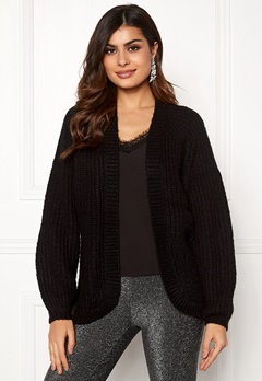Pieces Clarissa LS Knit Cardigan Black Bubbleroom.eu