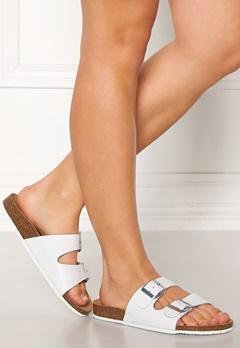 Pieces Coco Leather Sandals Bright White Bubbleroom.eu