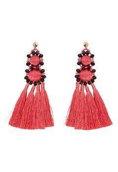 Pieces Dalgas Earrings Rouge Red Bubbleroom.eu